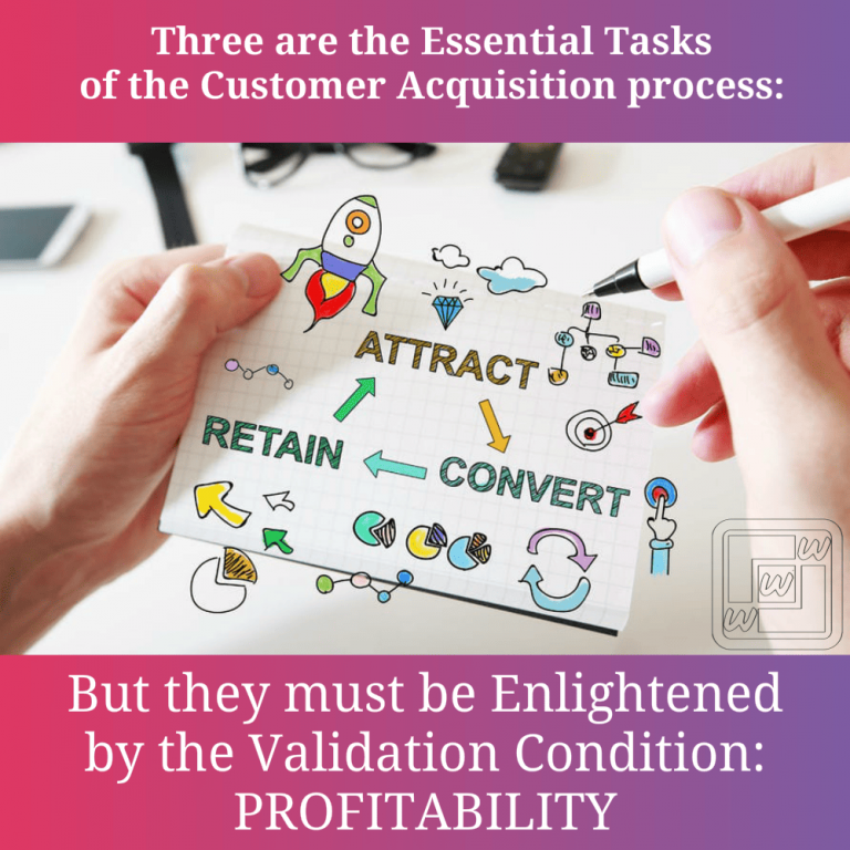 Customers acquisition essentials tasks