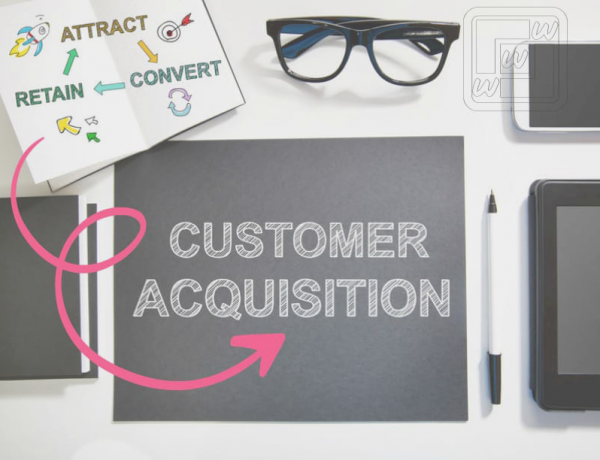 Outlines the customers acquisition process